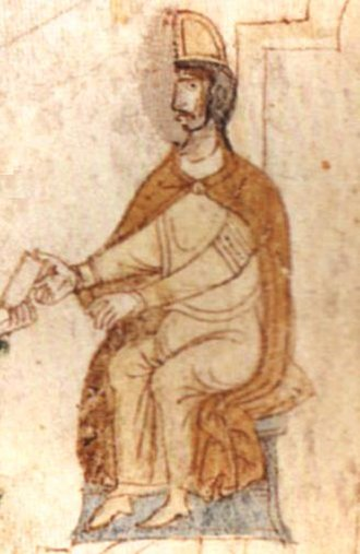 Tancred, King of Sicily - Tancred of Sicily from Liber ad honorem Augusti, 1196