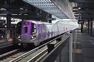 Taoyuan Airport MRT Metro line in Taiwan