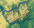 Taunus Naturräumliche Gliederung mit Relief.png
