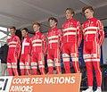 Team Denmark (2019-04-14) - Saint-Amand-les-Eaux - Paris-Roubaix juniors, départ.jpg
