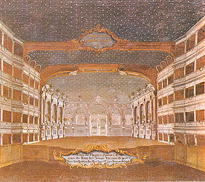 Turandot (Gozzi) - Painting of the Teatro San Samuele by Gabriel Bella (1730-1799)
