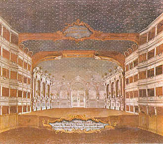 Teatro San Samuele - Painting of the Teatro San Samuele by Gabriel Bella (1730-1799)
