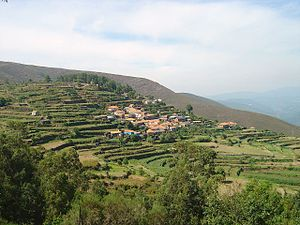 Arouca, Portugal - The rural village of Tebilhão in the terraced foothills of Arouca