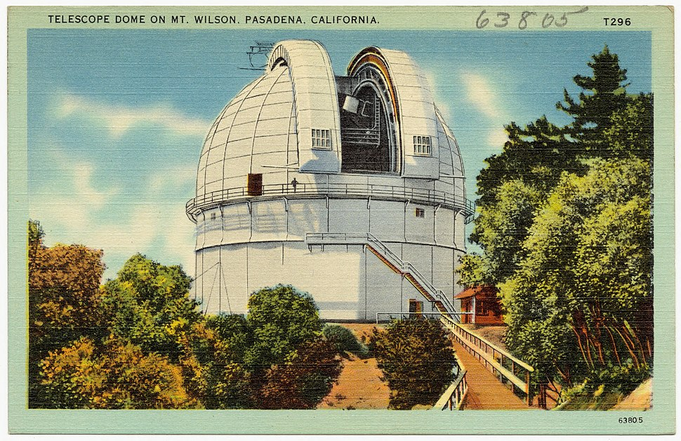 Telescope dome on Mt. Wilson, Pasadena, California (63805)