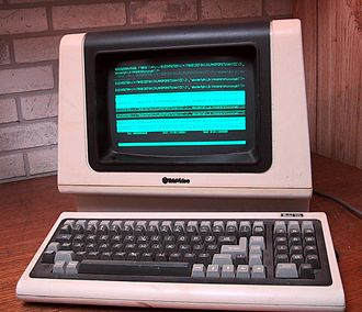History of computing hardware (1960s–present) - Time-sharing computer terminals connected to central computers, such as the TeleVideo ASCII character mode smart terminal pictured here, were sometimes used before the advent of the PC.