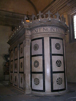 San Pancrazio, Florence - Apse view of the Rucellai Sepulchre