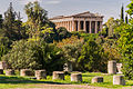Temple of Hephaestus from ancient agora Athens.jpg