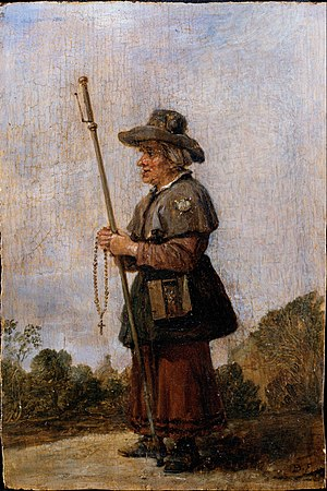 Pilgrimage -  David Teniers the younger: Female Pilgrim
