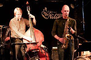 Frode Nymo - Terje Gewelt and Frode Nymo  live at Herr Nilsen in Oslo February 25, 2012.  (Photo: Bjørn Erik Pedersen)