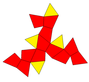 Tetrahedrally diminished dodecahedron - Image: Tetrahedrally diminished icosahedron net