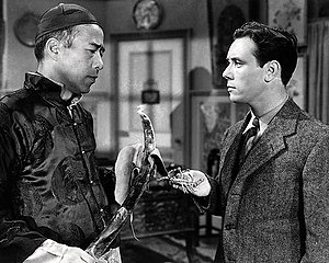 Tetsu Komai - Tetsu Komai and Frank Coghlan Jr. in Adventures of Captain Marvel (1941).