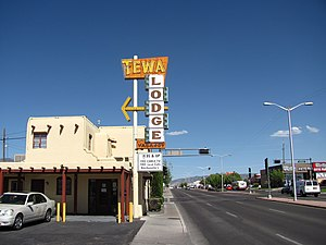 Central Avenue (Albuquerque, New Mexico) - Tewa Lodge, a Route 66 era motel on East Central
