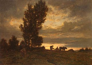 Landscape with a Plowman