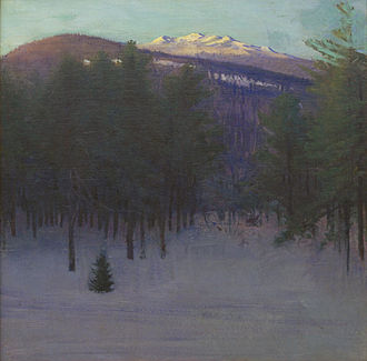 Abbott Handerson Thayer - Monadnock in Winter, 1904, oil on canvas