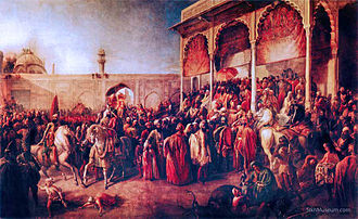 Court (royal) - The Sikh 'Court of Lahore'.