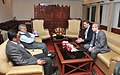 The Ambassador of Spain, Mr. Gustavo de Aristegui calls on the Union Minister for Road Transport and Highways, Dr. C.P. Joshi, in New Delhi on February 27, 2013.jpg