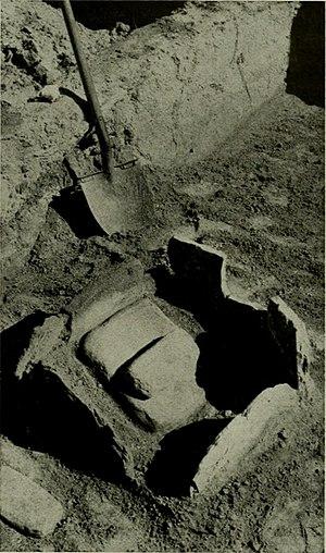 Tonque Pueblo - A metate excavated at Tonque Pueblo