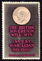 The British Sovereign Will Win Invest in the War Loan To-Day poster stamp