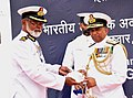 The Director General, Indian Coast Guard, Vice Admiral M.P. Muralidharan commissioned the Coast Guard Station Dahanu, the third Coast Guard station in Maharashtra, at Dahanu on March 22, 2012.jpg
