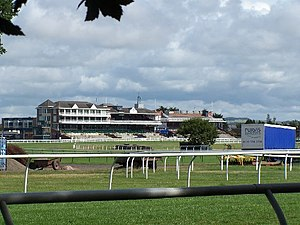 Horseracing in Scotland - The Eglinton stands at Ayr Racecourse
