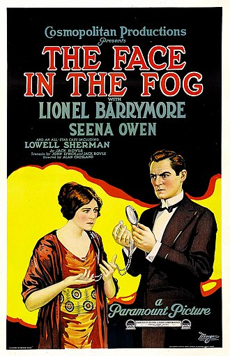 Boston Blackie - Poster for The Face in the Fog (1922), starring Lionel Barrymore