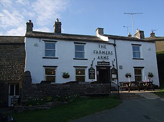 Muker - The Farmer's Arms; the village's only pub.