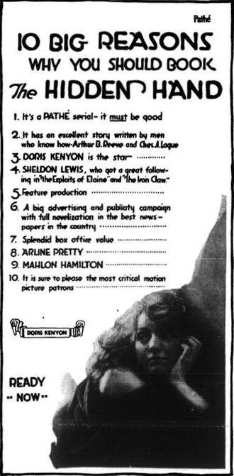The Hidden Hand (serial) - Advertisement