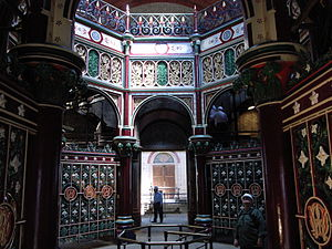 Joseph Bazalgette - Interior of the Octagon at Crossness Pumping Station showing its elaborate decorative ironwork