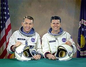 Gemini 9A - The original prime crew of Gemini 9 - Elliot See and Charles Bassett