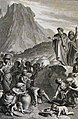 The Phillip Medhurst Picture Torah 394. Manna in the wilderness. Exodus cap 16 vv 14-16. Marillier.jpg