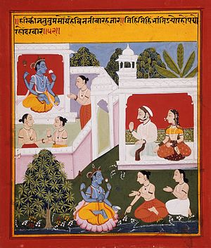 Bihari Lal - The Poet Bihārī Offers Homage to Radha and Krishna