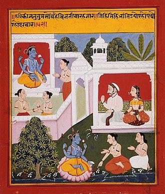 Bihari Lal - The Poet Bihārī Offers Homage to Radha and Krishna