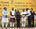 The President, Shri Pranab Mukherjee presenting the National Award for Teachers-2015 to Shri S. Muruganandam (Puducherry), on the occasion of the 'Teachers Day', in New Delhi.jpg