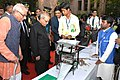 The President, Shri Pranab Mukherjee visiting an exhibition at the Institute of Management – Ahmadabad (IIMA), in Gujarat on November 30, 2015. The Governor of Gujarat, Shri O.P. Kohli is also seen.jpg