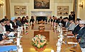 The Prime Minister, Dr. Manmohan Singh and the President of Nepal, Dr. Ram Baran Yadav, at the delegation level talks, in New Delhi on February 02, 2011.jpg