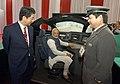 The Prime Minister, Shri Narendra Modi and the Prime Minister of Japan, Mr. Shinzo Abe visit the Exhibition, at Mahatma Mandir, in Gandhinagar, Gujarat on September 14, 2017.jpg