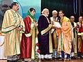 The Prime Minister, Shri Narendra Modi distributes the awards to students, at the 5th Convocation of Shri Mata Vaishno Devi University, at Katra, in Jammu and Kashmir (1).jpg