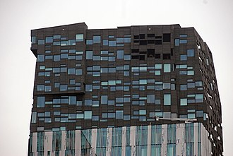 The Rock (building) - Top of the building in 2010