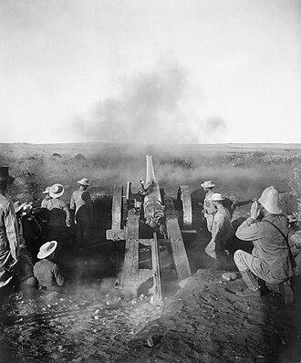"QF 4.7-inch Gun Mk I–IV - ""Joe Chamberlain"" at Magersfontein."