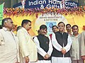 The Union Minister for Commerce & Industry and Law & Justice Shri Arun Jaitley and the Union Minister for Textiles Shri Syed Shahnawaz Hussain at Indian Handicrafts and Gifts Fair - Spring 2004.jpg