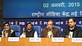 The Union Minister for Rural Development, Panchayati Raj, Drinking Water and Sanitation, Shri Chaudhary Birender Singh addressing a press conference on all issues concerning the Ministry of Rural Development.jpg