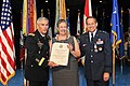 The Vice Chief of Staff of the U.S. Army Gen. John F. Campbell, left, presents Linda Byers, center, with a certificate of appreciation as her husband Air Force Maj. Gen. Timothy A. Byers, the Civil Engineer 130621-A-WP504-117.jpg