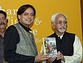 "The Vice President, Mohammad Hamid Ansari launching the Book ""The Elephant, The Tiger and the Cellphone"", by Dr. Shashi Tharoor, in New Delhi on October 29, 2007.jpg"