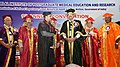The Vice President, Shri M. Venkaiah Naidu presenting Gold Medals to the Students at the 9th Annual Convocation of Jawaharlal Institute of Postgraduate Medical Education and Research (JIPMER), in Puducherry (2).JPG