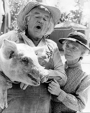 Will Geer - Geer (with Ellen Corby) as Grandpa in The Waltons