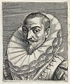 The head and a shoulders of a man with short hair, a stiff s Wellcome V0019853ER.jpg