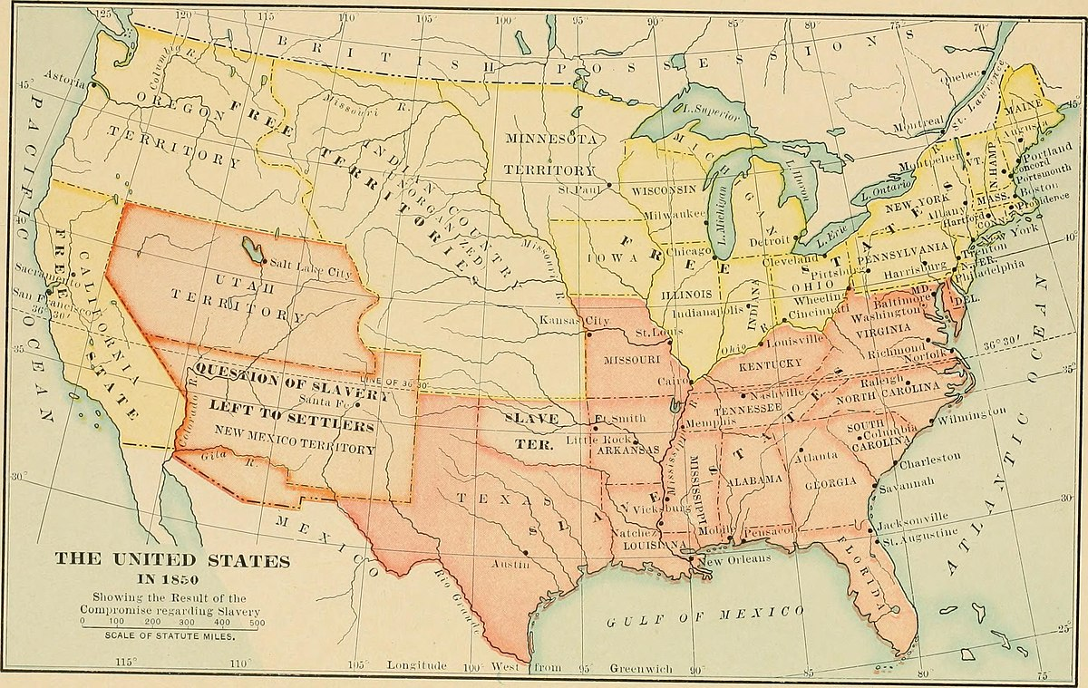 the outcomes of the missouri compromise and the compromise of 1850