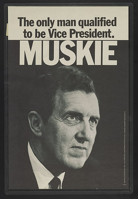 A campaign poster for the 1968 presidential election. The only man qualified to be Vice President - Muskie LCCN2016648557.jpg