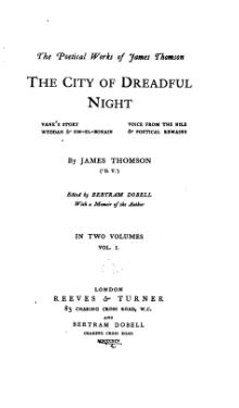 The poetical works of James Thomson (1895), Volume 1.djvu