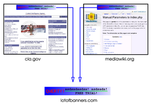 HTTP cookie - In this fictional example, an advertising company has placed banners in two websites. Hosting the banner images on its servers and using third-party cookies, the advertising company is able to track the browsing of users across these two sites.